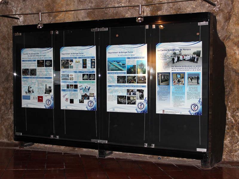 Graphiste | réalisation d'affiches | présentation de l'exposition à Monaco