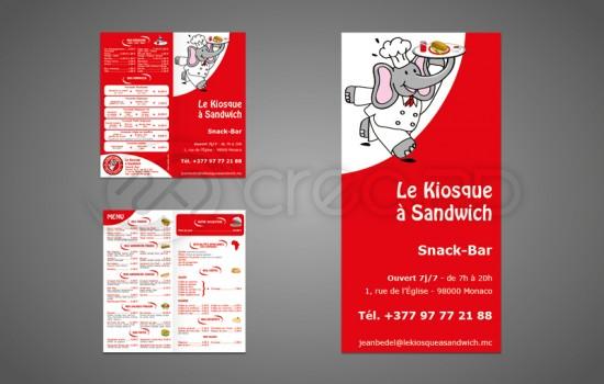 menu depliant snack monaco